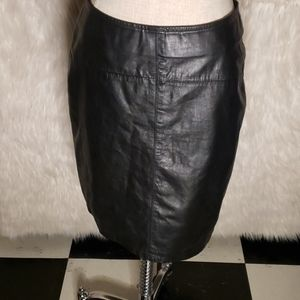 Compagnie Internationale Express Leather Skirt